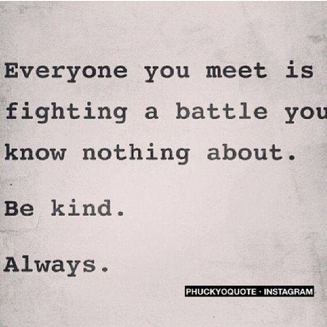 *be kind*