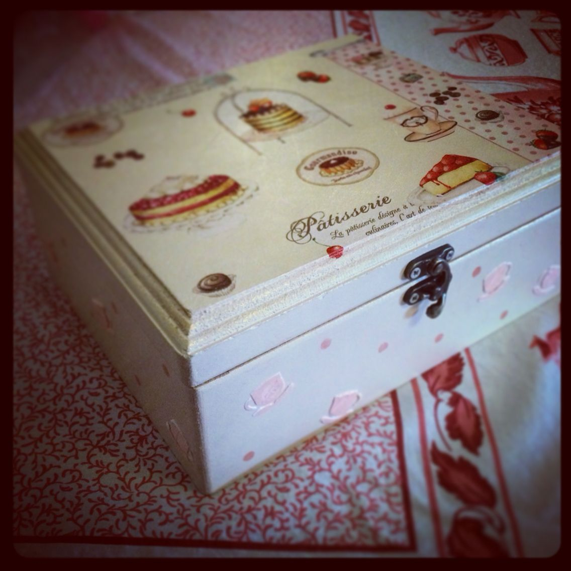 Kitchen tea box;handmade