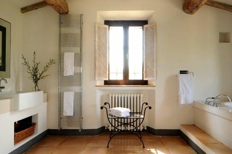 Cuartos de baño rusticos - 50 ideas con madera y piedra   Baños ...