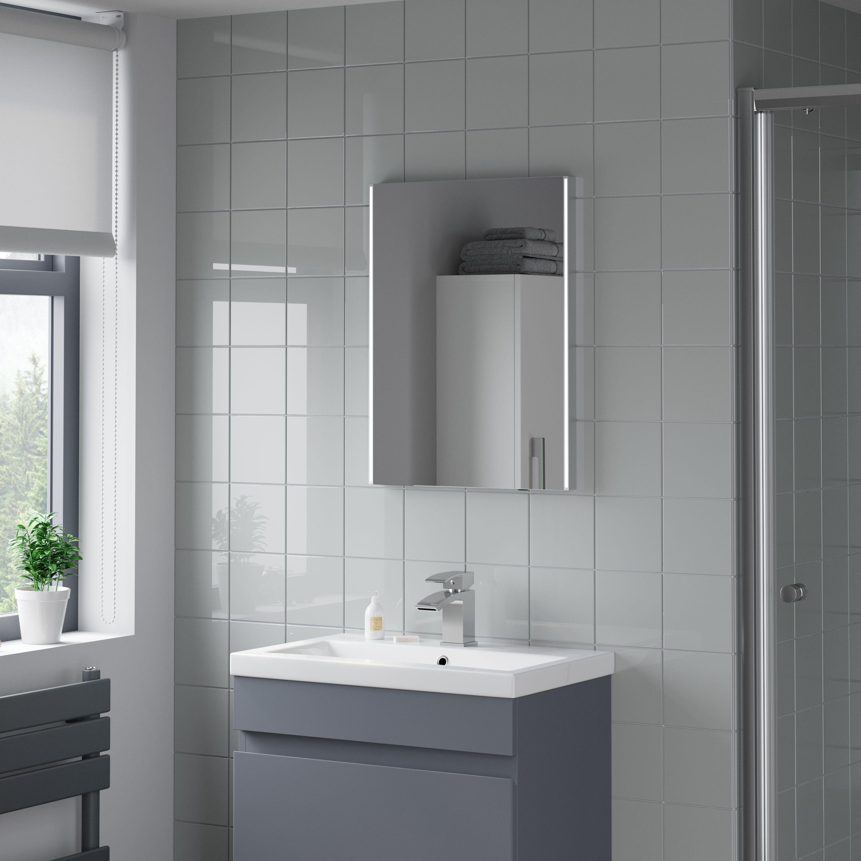 Artis Umbra Led Illuminated Mirror 450 X 600mm Battery Operated Led Mirror Bathroom Bathroom Mirror Luxury Mirror