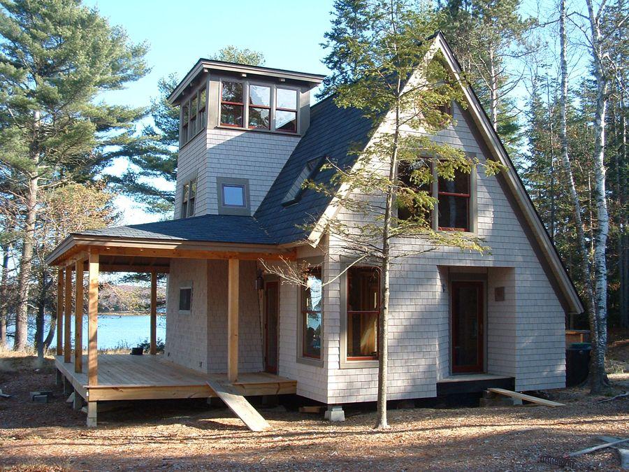 Island Cottage Maine Timber Frame Post Beam Custom Homes Barns Maine House Custom Home Builders Cape Style Homes