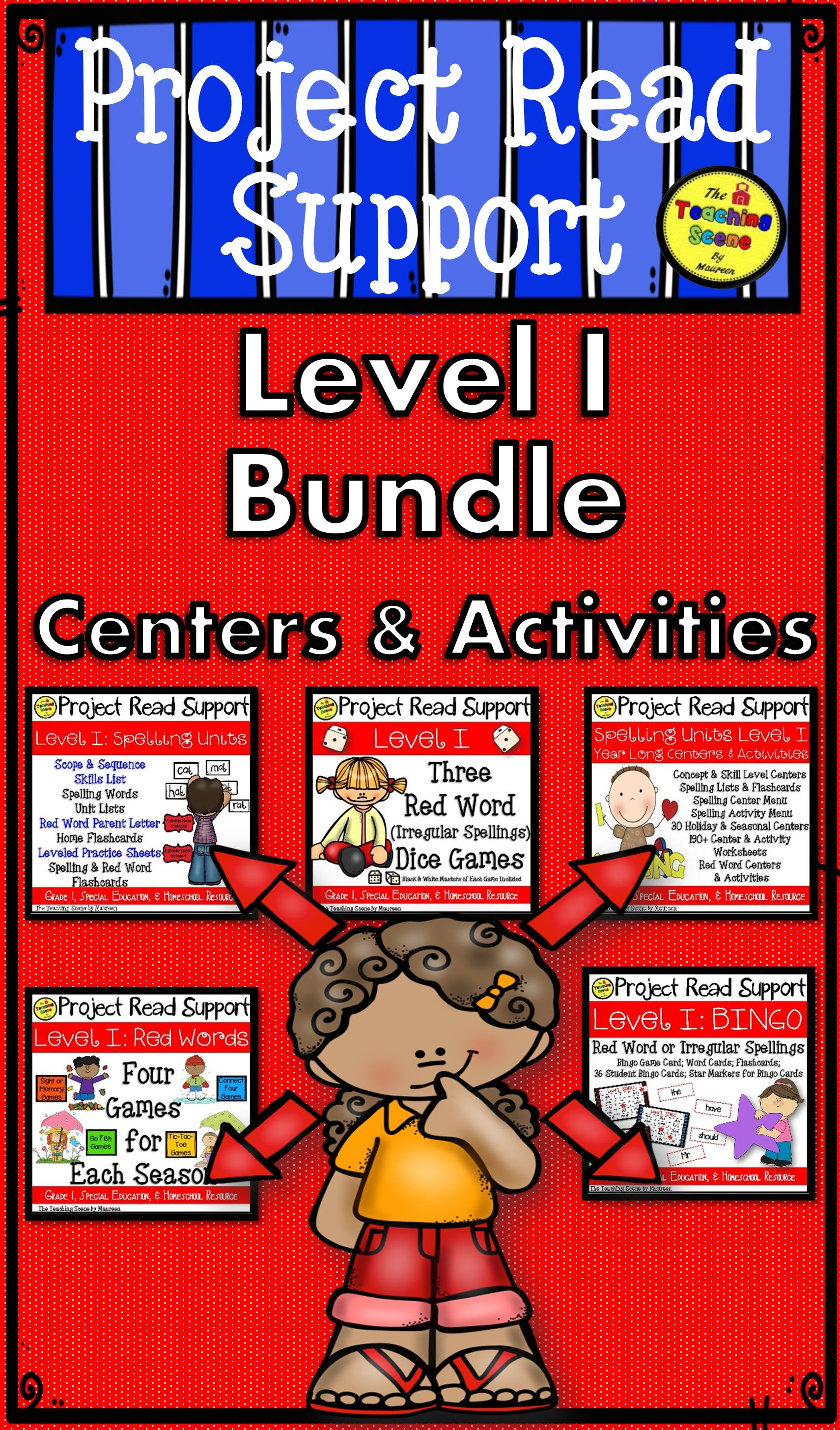Project Read Support Level I Bundle Spelling For 1st Grade