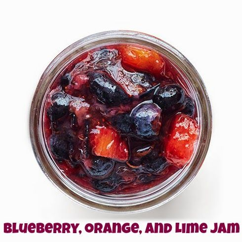 Easy Summer Fruit Jam Recipes including Blueberry Orange and Lime Jam