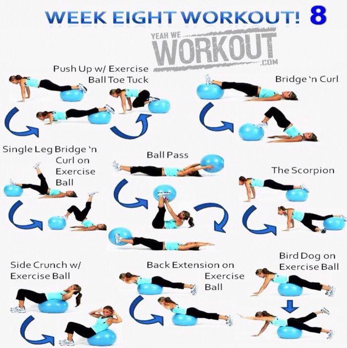 Yeah We Workout Week 8 | Øvelser med bold | Pinterest | Pilatestræning og Træning