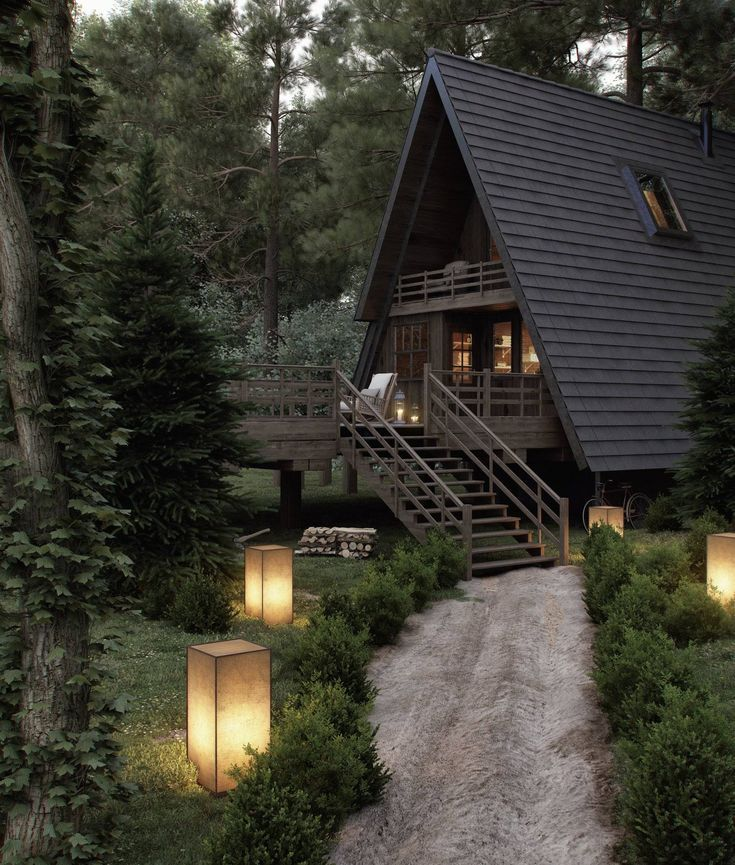 Forest House - #cabin #forest #House #attireforwedding