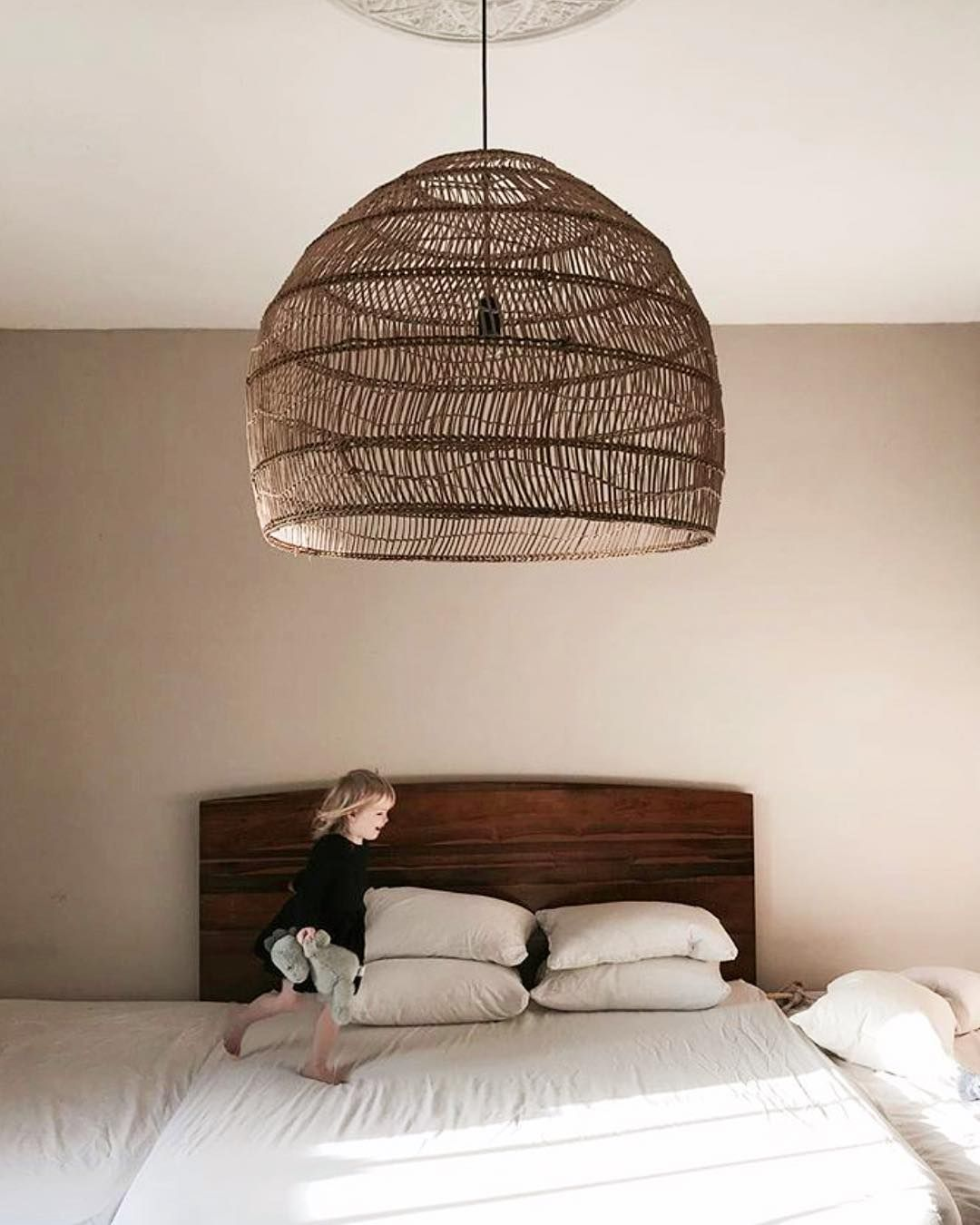 Global Interiors On Instagram Love This Shot Of Folkinteriors Of Our Hkliving Wicker Lamp In Big Size Wickerlamp Dutchdesign Rattan Lamp Rattan Interior
