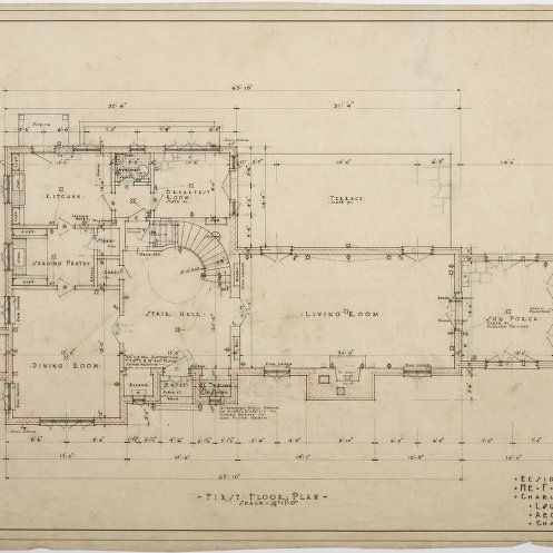 F W Bradshaw House First Floor Plan Vintage House Plans Small Floor Plans How To Plan