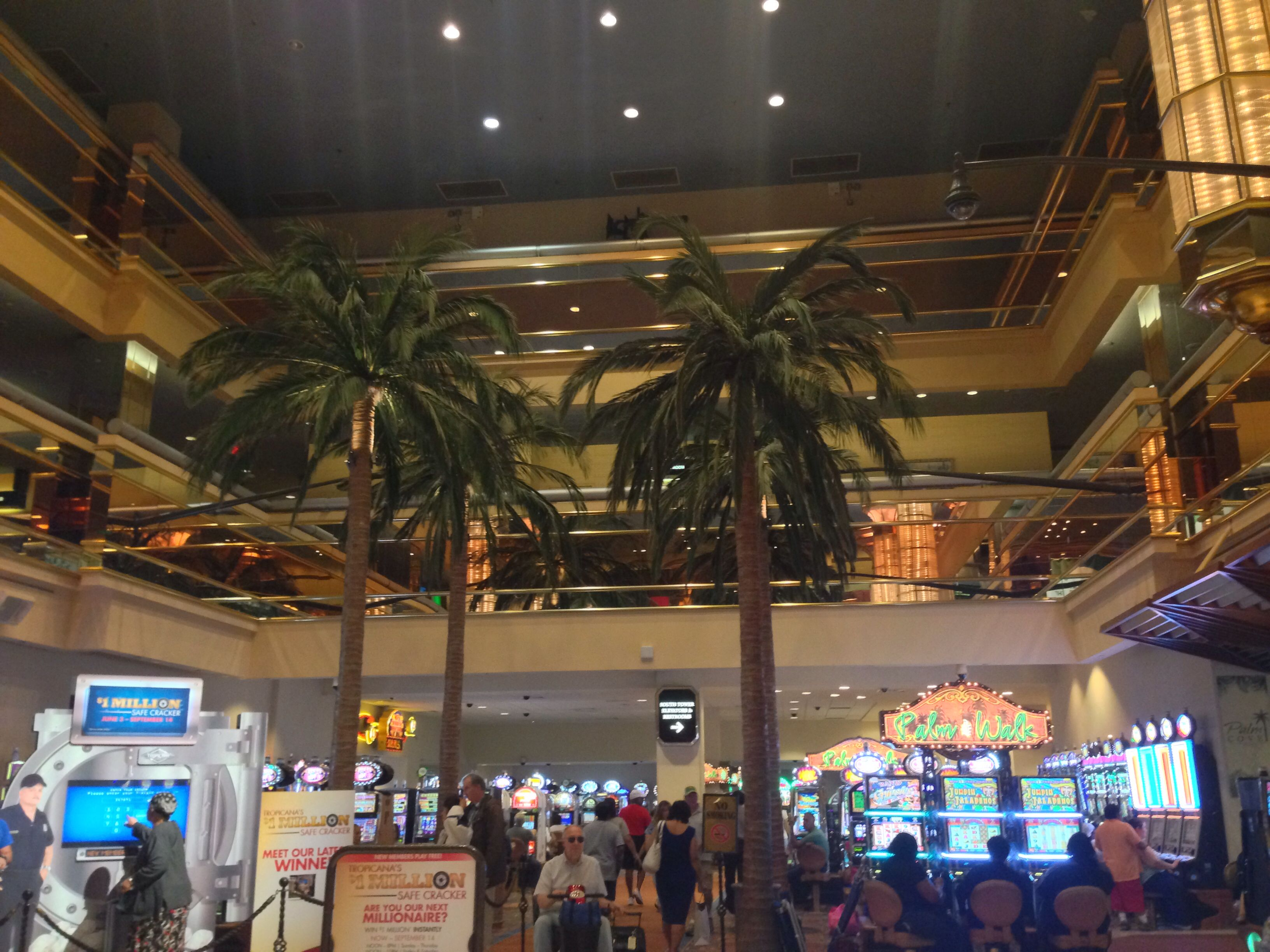 Inside the Tropicana Casino in Atlantic City, New Jersey