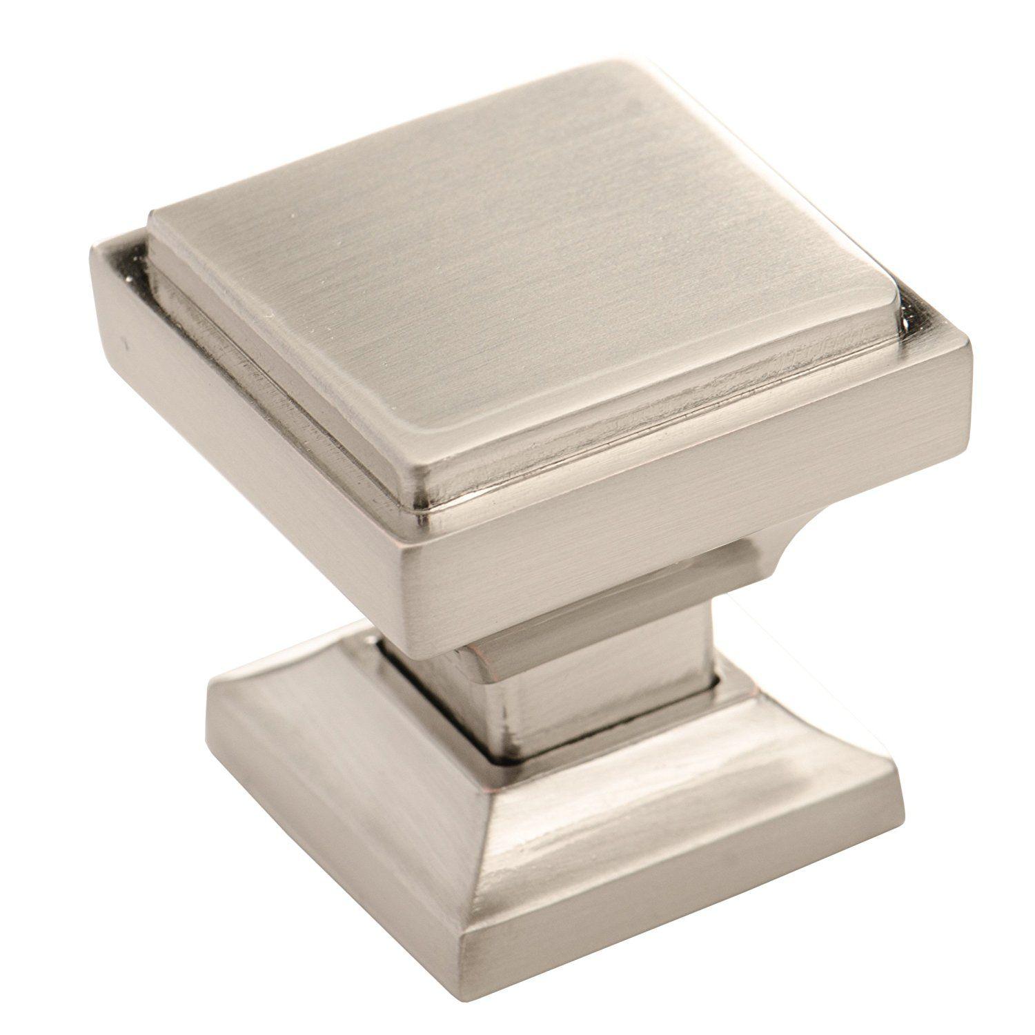 Southern Hills Brushed Nickel Square Cabinet Knobs   Pack Of 5, Kitchen  Cabinet Knobs,