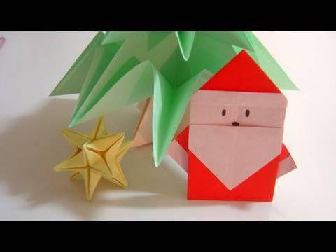 ▷ Simple Origami Santa Claus - Papai Noel de Origami - YouTube ...
