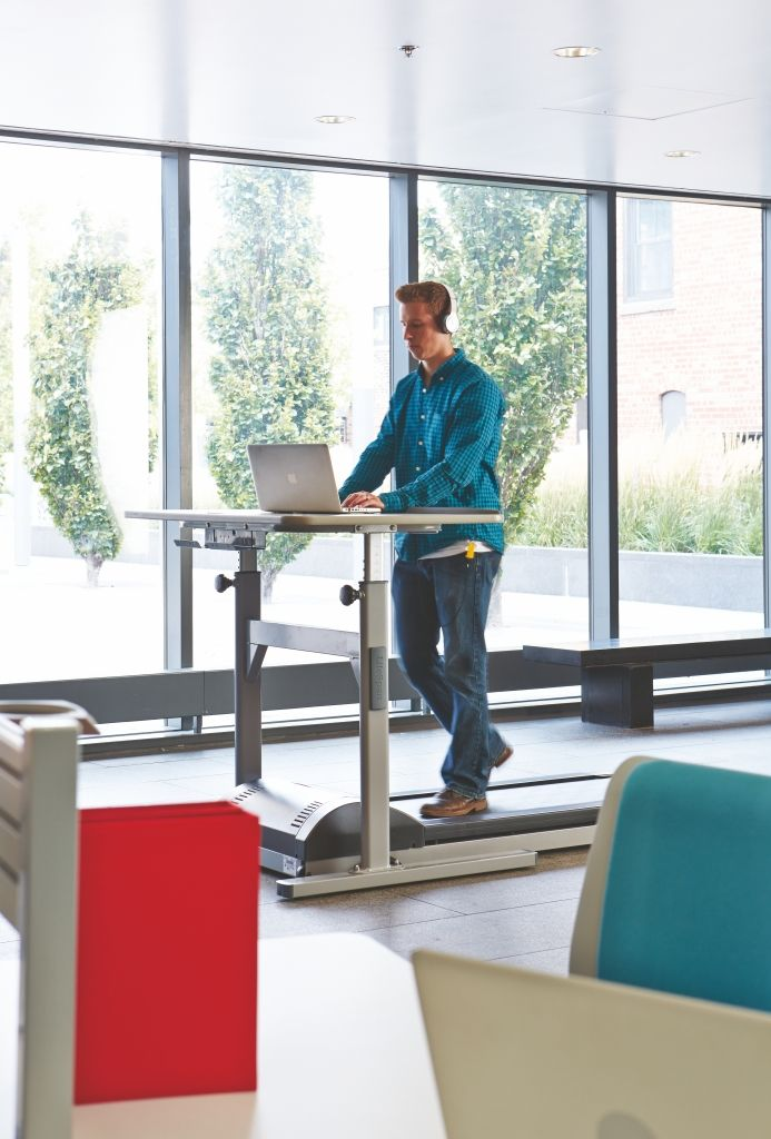 Add walking into your workday with a treadmill desk ...