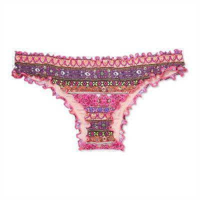 dfe7abbf86 Women s Wave Ruffle Cheeky Bikini Bottom - Shade   Shore Pink Multi ...