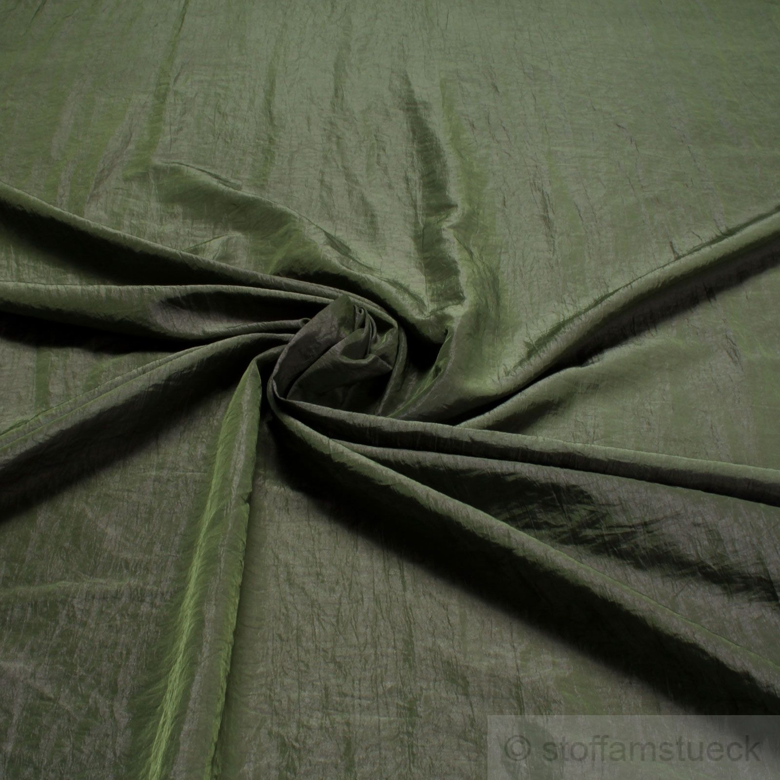 Polyester Crash Kleidertaft oliv lila changierend