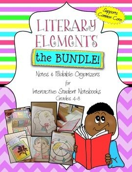 This Interactive Notebook - Literary Elements bundle contains everything you need to not only teach your students to identify literary elements, but to analyze and reflect on their effects on a piece of writing, making it the perfect tool for supporting Common Core.