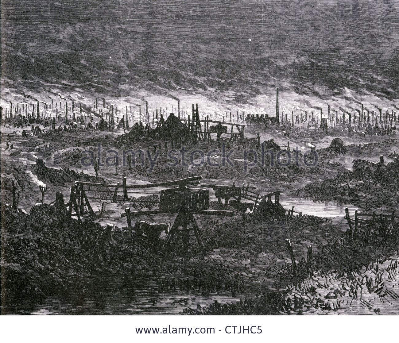 industrial revolution the black country around wolverhampton industrial revolution the black country around wolverhampton england in 1866 stock photo