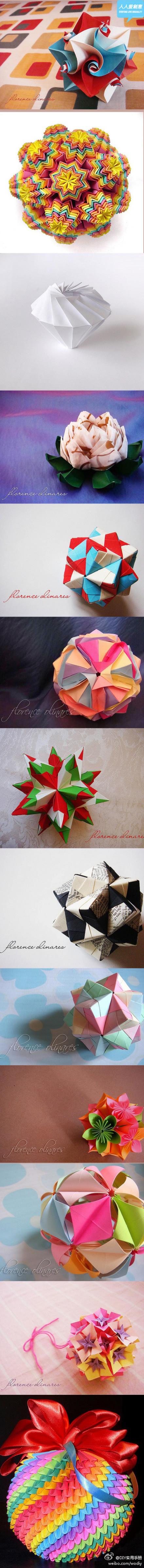 paper folding - modular origami - love this stuff!