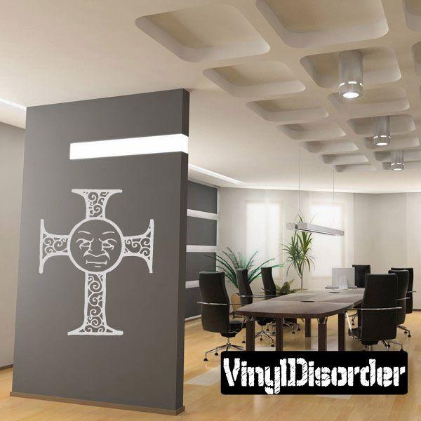 Cross Wall Decal - Vinyl Decal - Car Decal - CF107