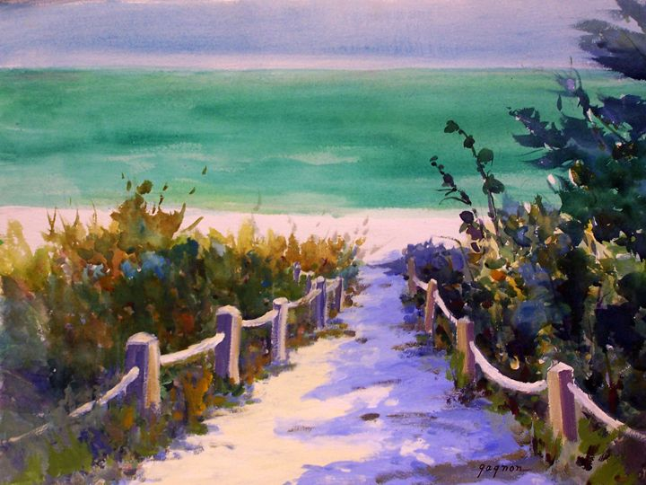 Watercolor Paintings Of Florida Beaches Carol Gagnon Paintings