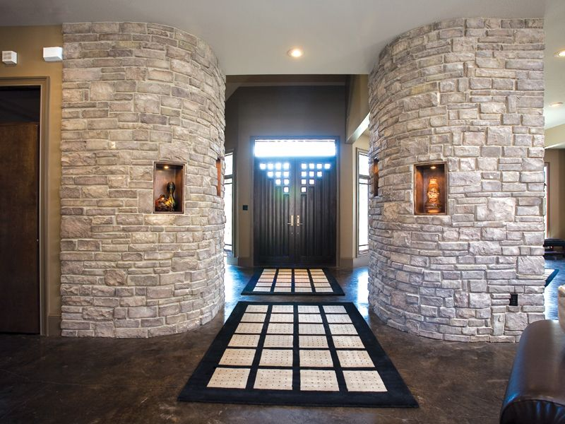 Luxury Homes Foyer forest path luxury home | entry foyer, foyers and stone walls