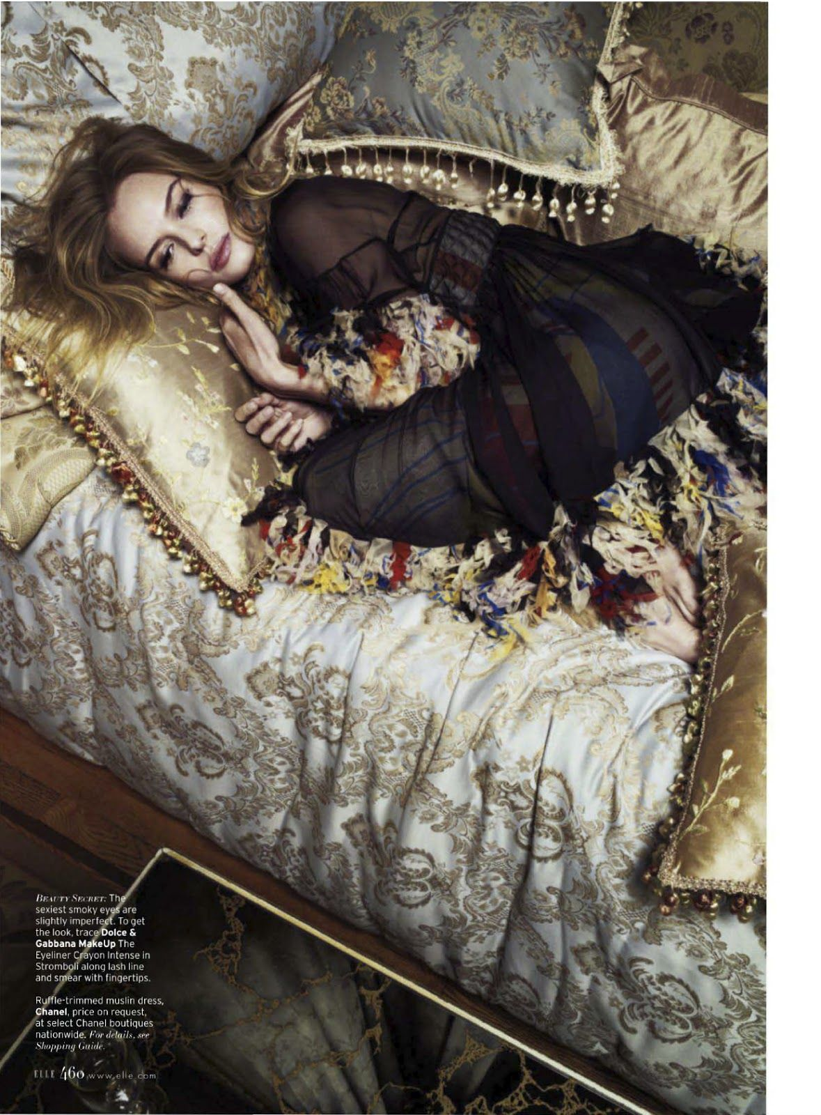 kate bosworth by cedric buchet for us elle march #fashionphotography