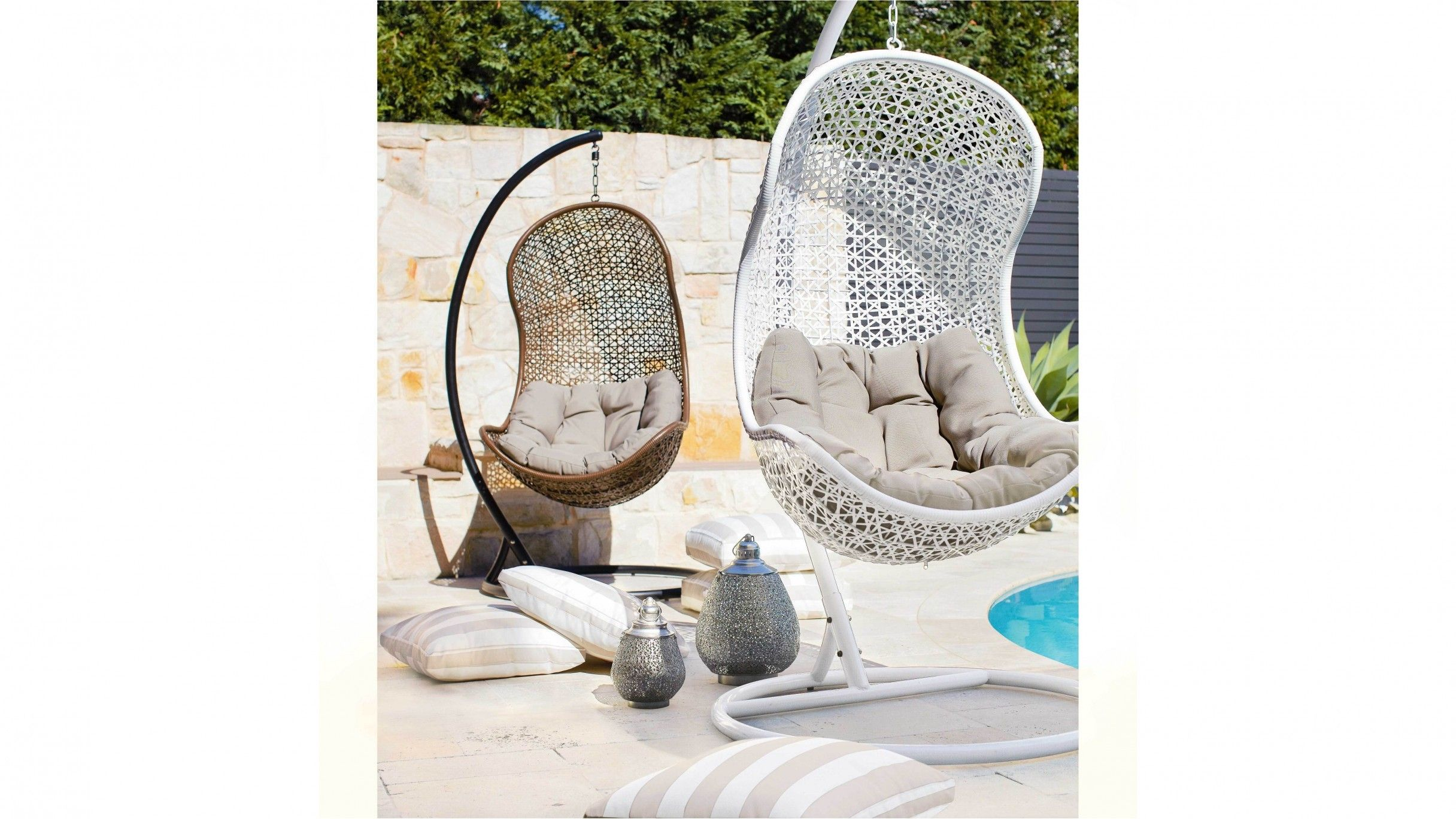 Havana Hanging Egg Chair Harvey Norman | sillas colgantes ...