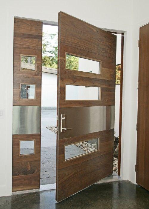 Une #Porte D'Entrée #Originale ! #Bois #Entrée #Maison #Design