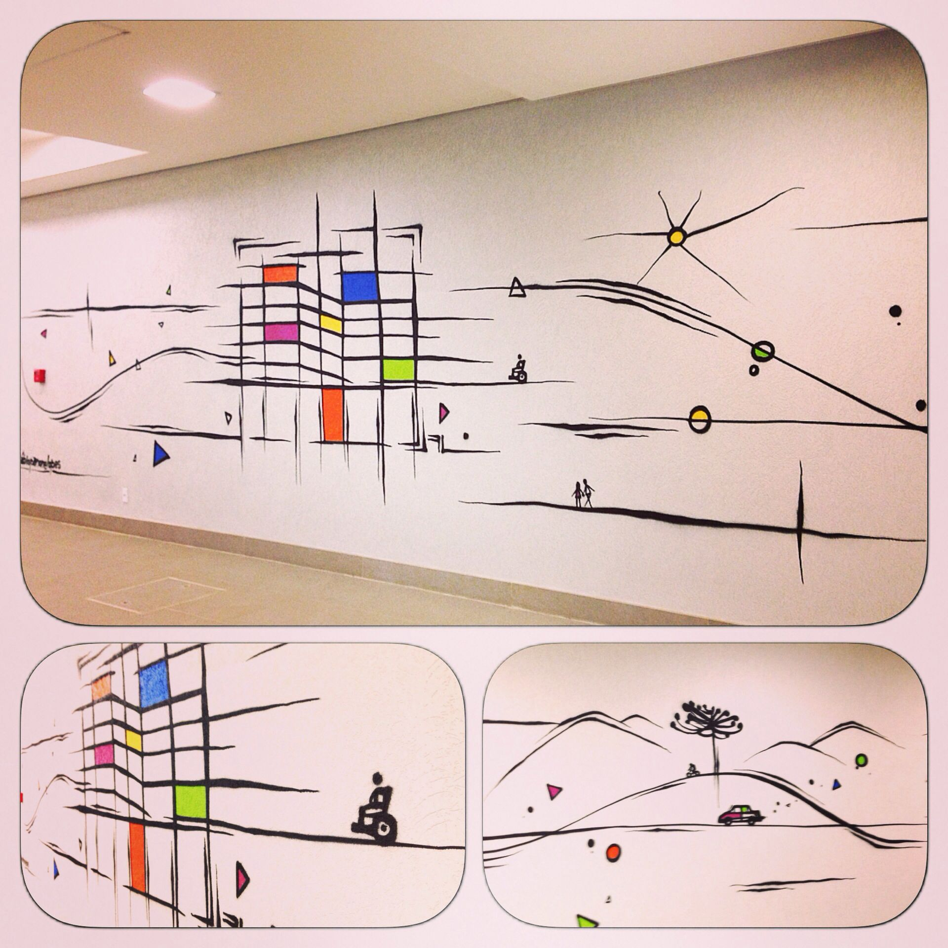 Painel interno - Galeria Comercial - Porto Alegre - Artista: Fábio Panone Lopes