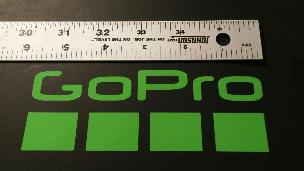 Gopro set of 2 decals drone decal car window die cut vinyl