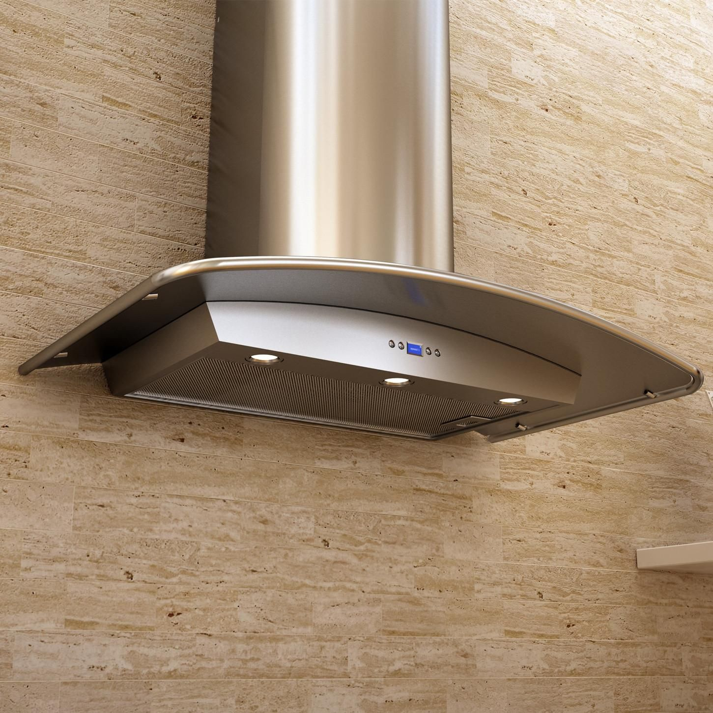 Zephyr Range Hoods 36 Inch Europa Milano Wall Mount Chimney Range Hood With 715 Cfm Internal Blower Stainless Steel Canopy Zmi M90bs Bbqguys Range Hood New Homes Kitchen Range Hood