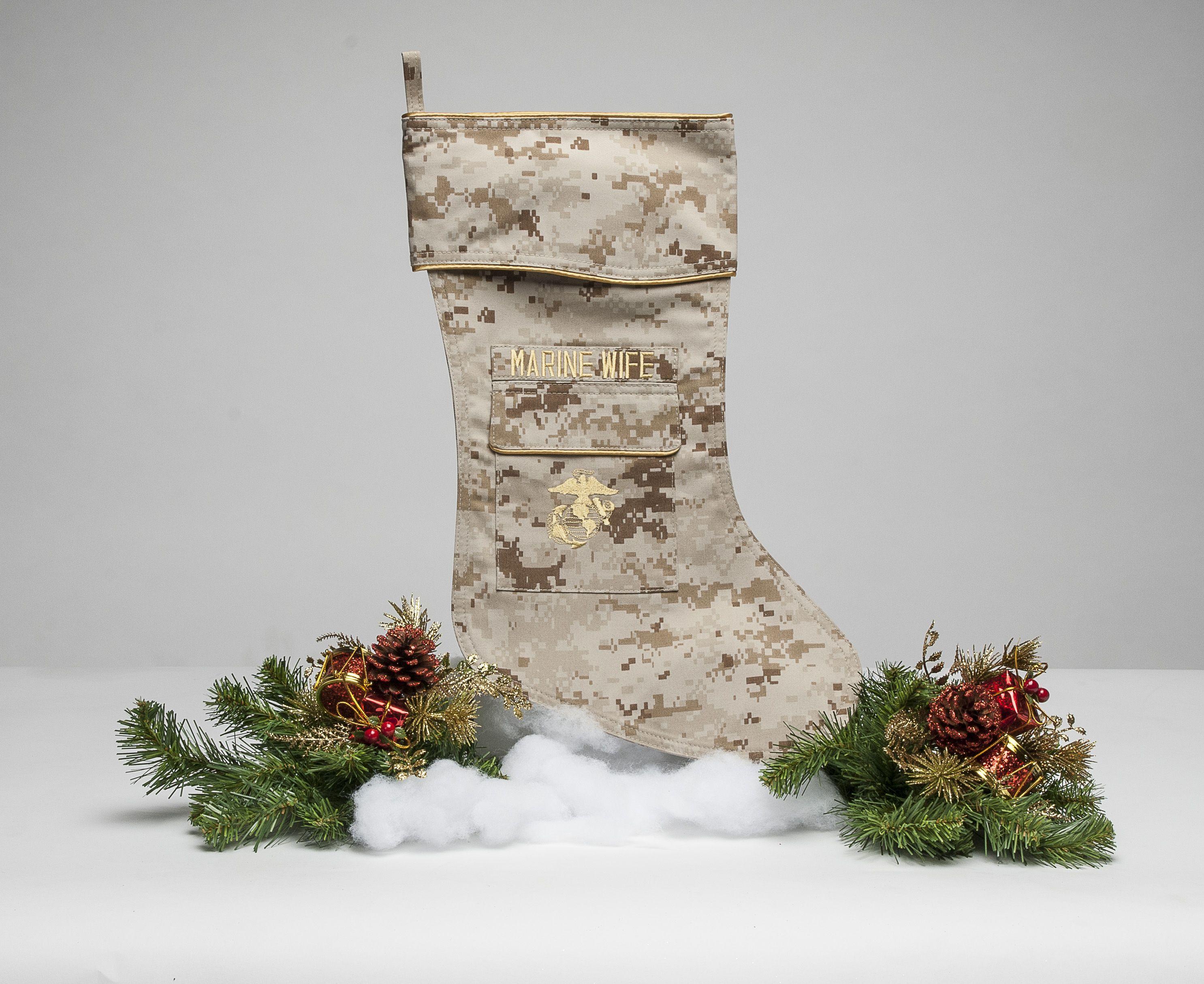 USMC Christmas Stocking Marines Military MARPAT