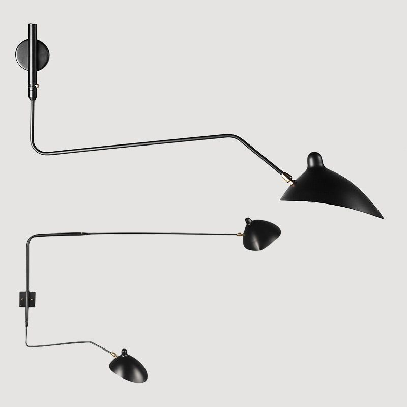 Find More Wall Lamps Information About Modern Serge Mouille Wall Lamp 2 Arms Rotating Wall Sconce Retro Dinning Ro Modern Wall Lamp Wall Lamp Wall Lights Retro