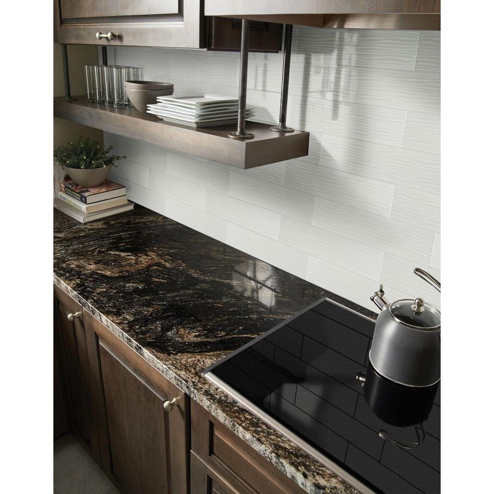 Kitchen Granite Wall Tiles: MSI Ola White 4 In. X 16 In. Glazed Ceramic Wall Tile (11
