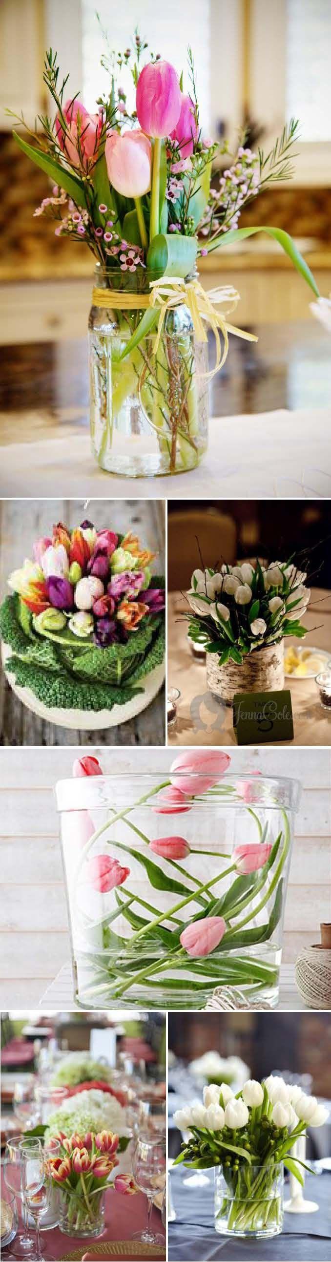 Diy decorations for wedding  liebeleinwill Hochzeitsblog  Hochzeit Blog Tulpen Tischeko