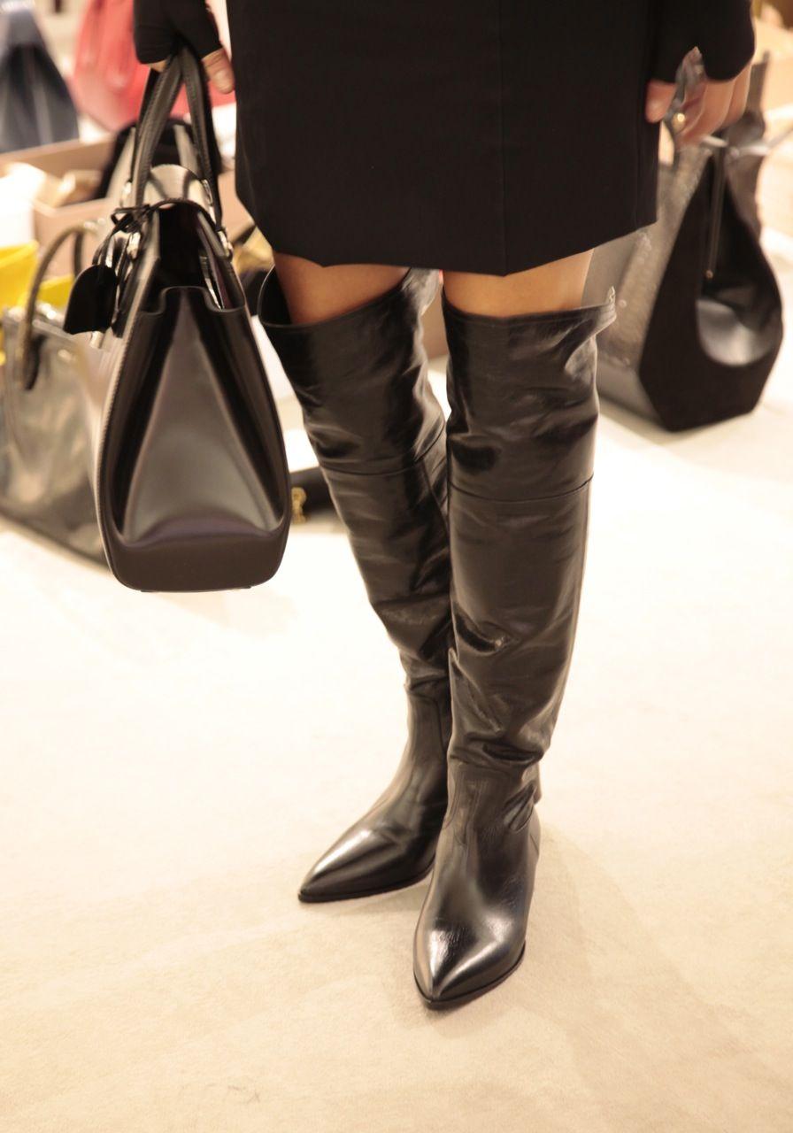 Beautiful overknee boots from #MiuMiu, autumn winter 2013