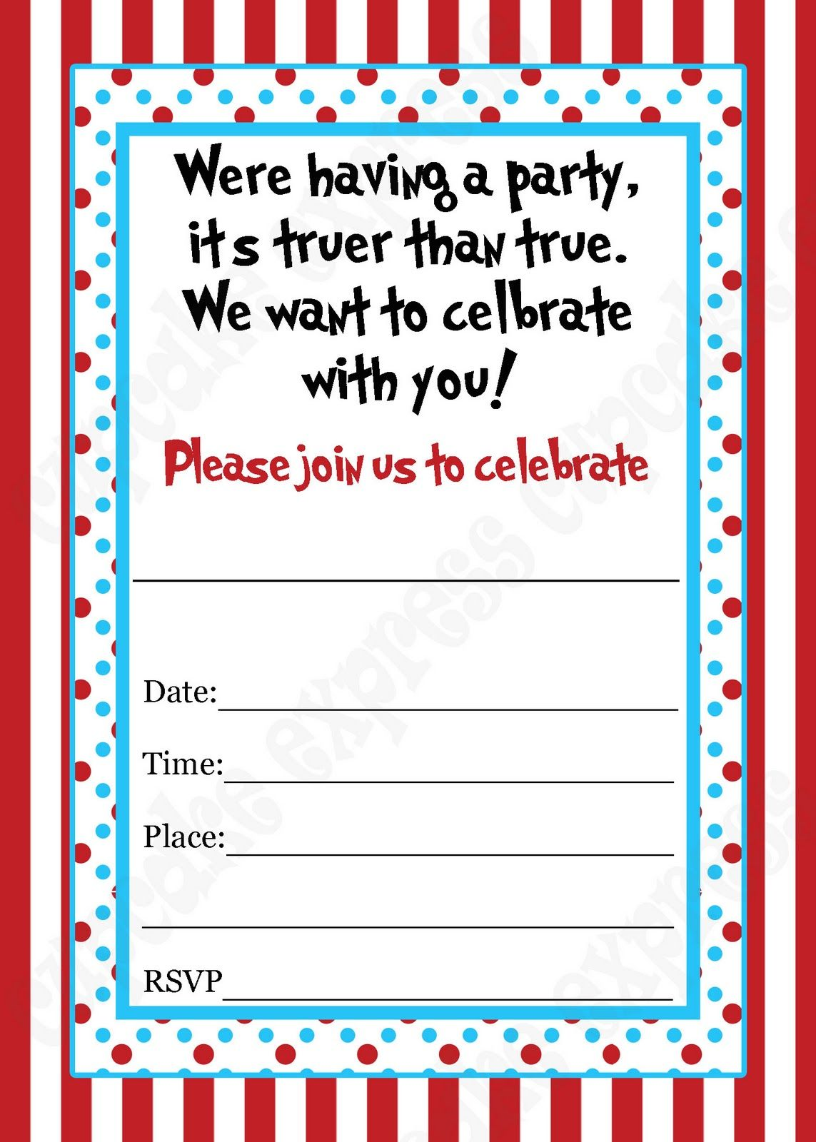 Blank Dr Seuss Invitations Dr seuss birthday invitations | Dr Seuss ...