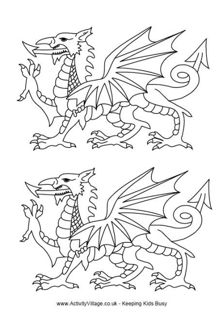 welsh dragon templates welsh dragon tattoo pinterest welsh
