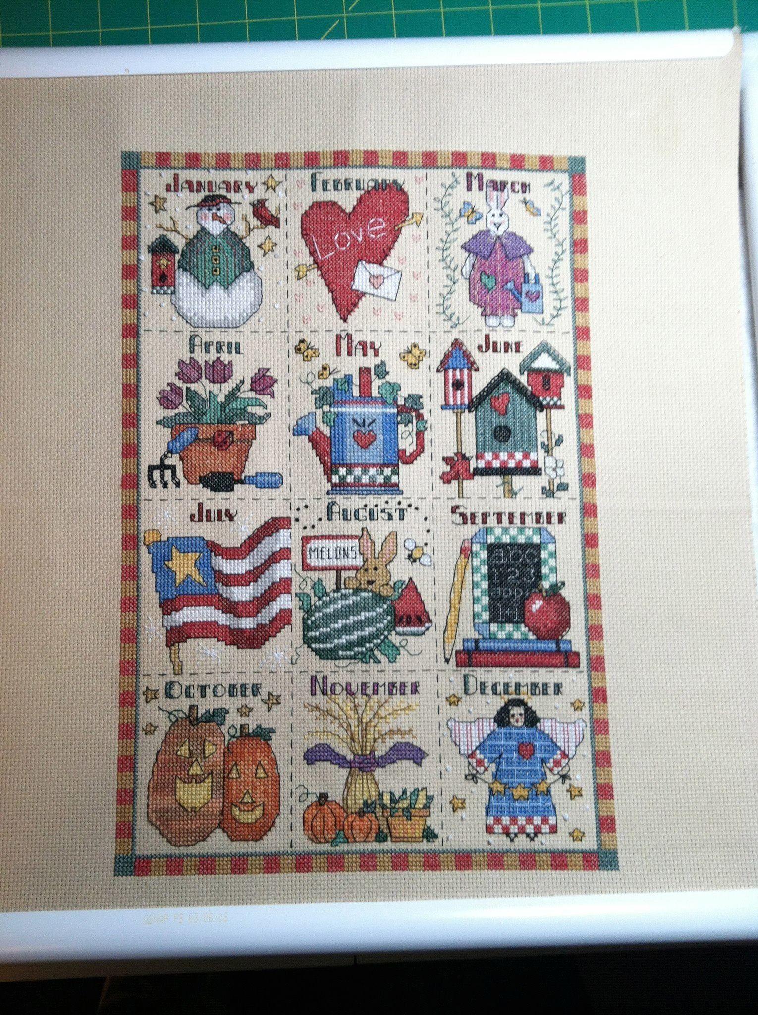 Cross Stitch Calendar Months Cross Stitch Patterns Cross Stitch Samplers Cross Stitch Designs