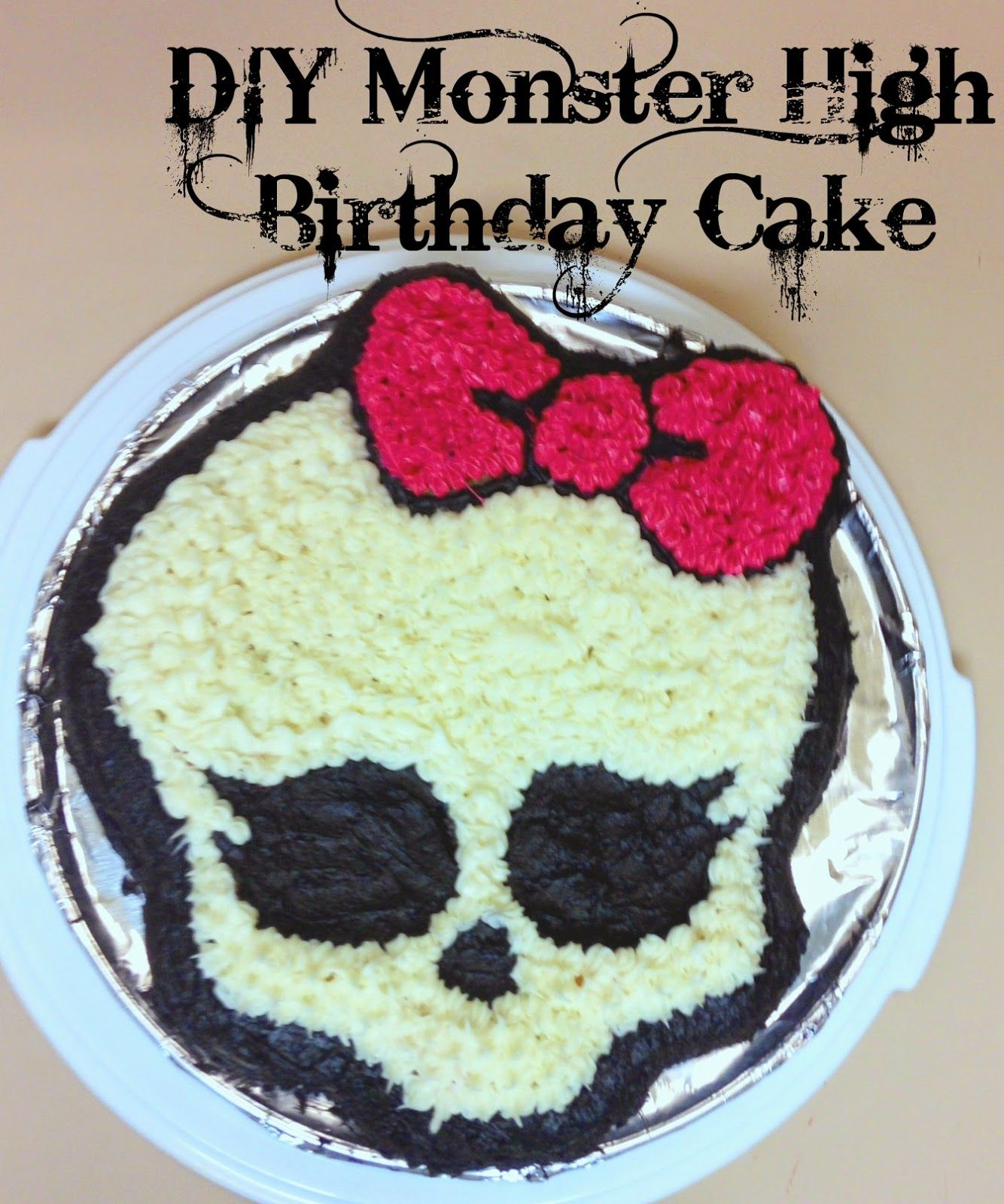 Attention All Monster High Fans Gr Ab This Easy Tutorial For Creating Your Own DIY Birthday Cake Next Party
