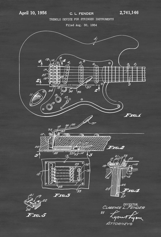 Fender Guitar Tremolo Patent Patent Print Wall Decor Music Etsy Projeto De Guitarra Guitarra Stratocaster Ideias De Gravura