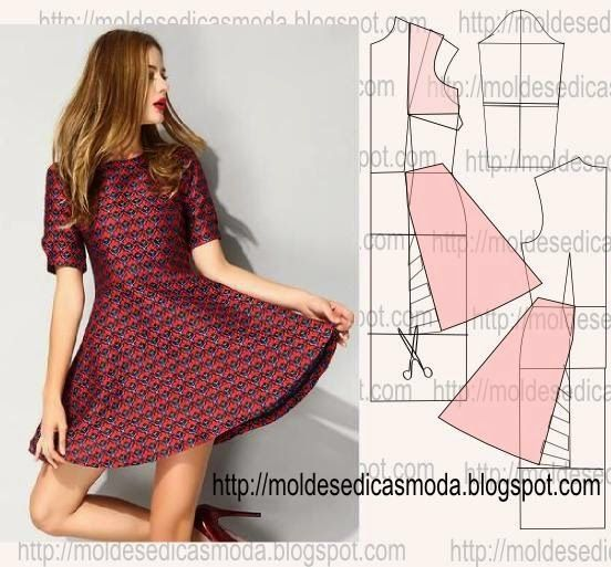 simples e feminino | moldes de vestuário e afins | Pinterest | Einfach