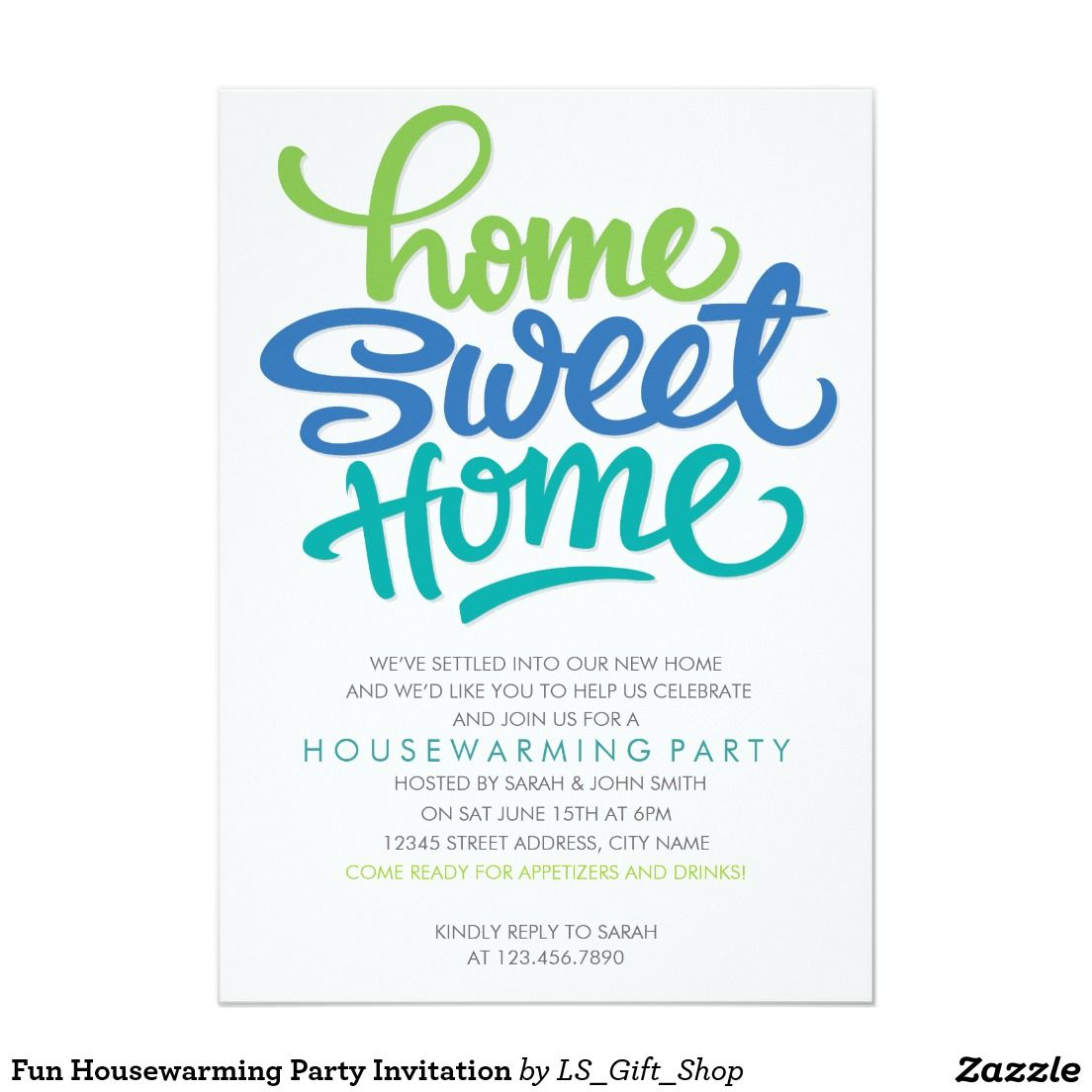 Fun housewarming party invitation invitation cards pinterest fun housewarming party invitation x invitation card stopboris Choice Image