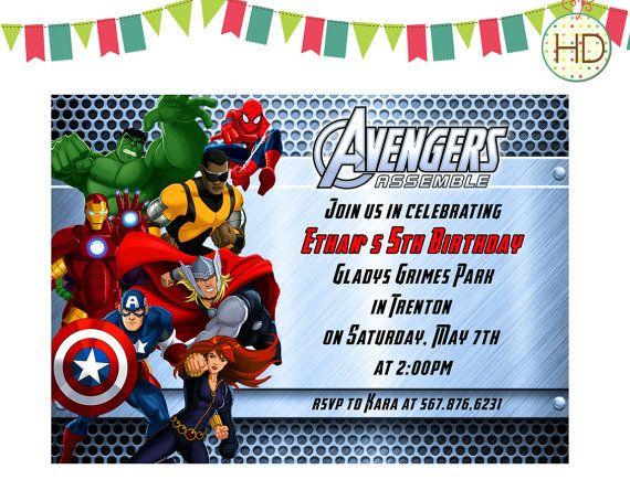 Avengers Birthday Invitation Avengers Assemble Invitation Superhero Party Marvel Avengers Party Invitation Avengers Birthday Superhero Birthday Invitations