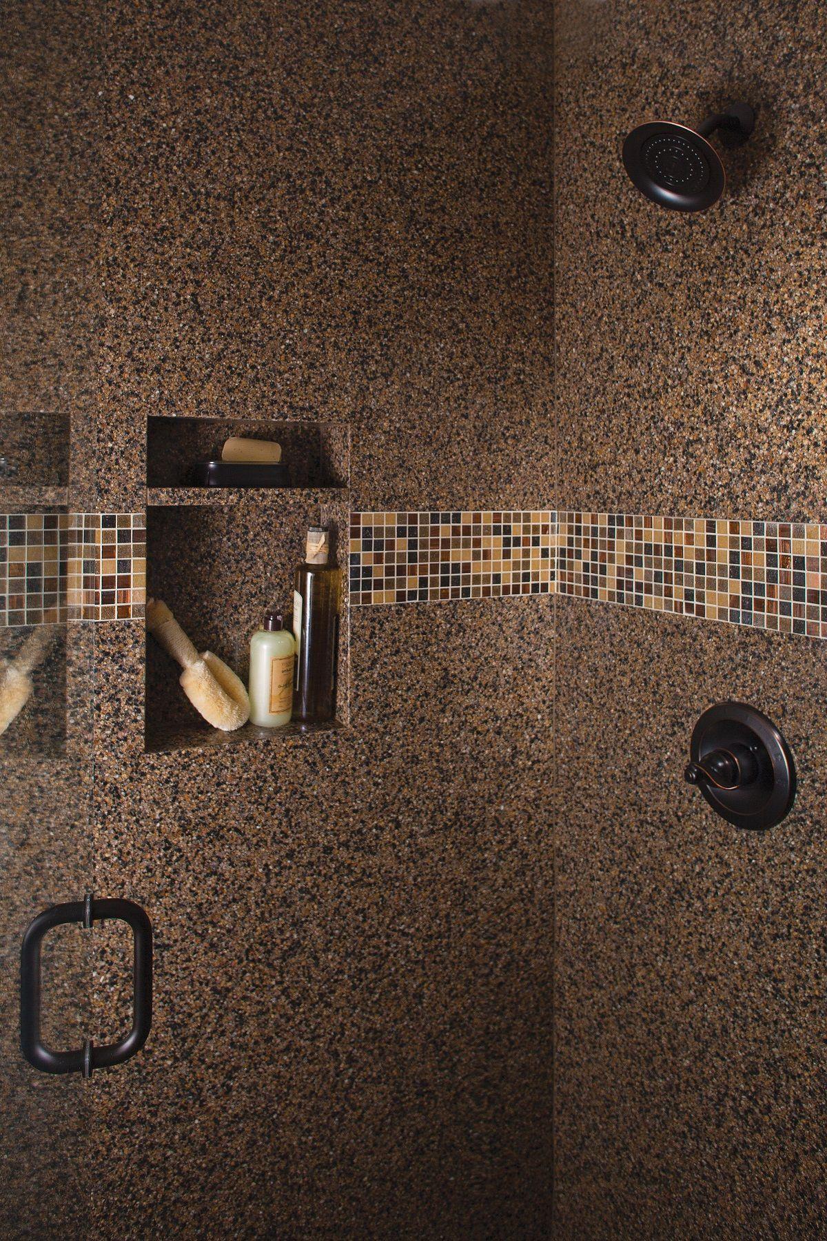 A Shower Makeover By Granite Transformations Shower Bathroom Mosaic Tile Remodel Kitchen Bathroom Remodel Remodel Shower Remodel