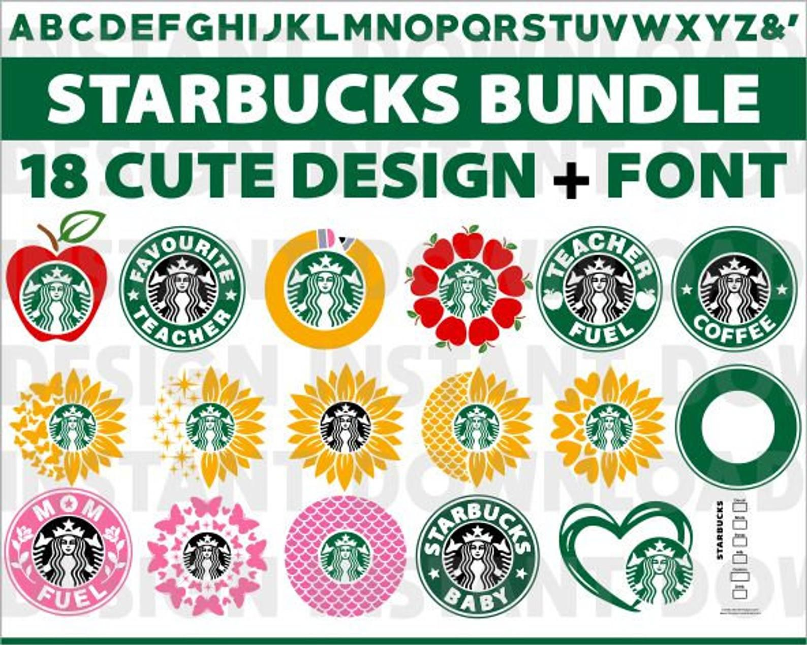 Starbucks Svg BundleStarbucks Teacher SvgStarbucks