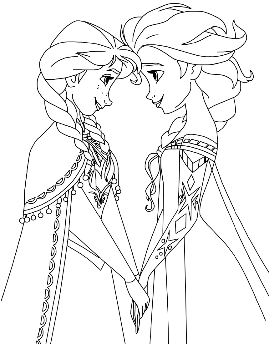 Elsa And Anna Sister Coloring Pages K5 Worksheets Elsa Coloring Pages Frozen Coloring Pages Disney Princess Coloring Pages