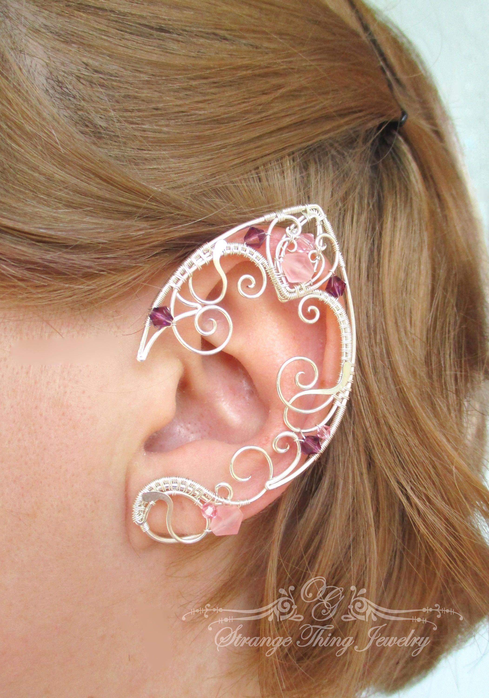 Pair of elf ear cuffs Water Lily | Geschmeide | Pinterest ...