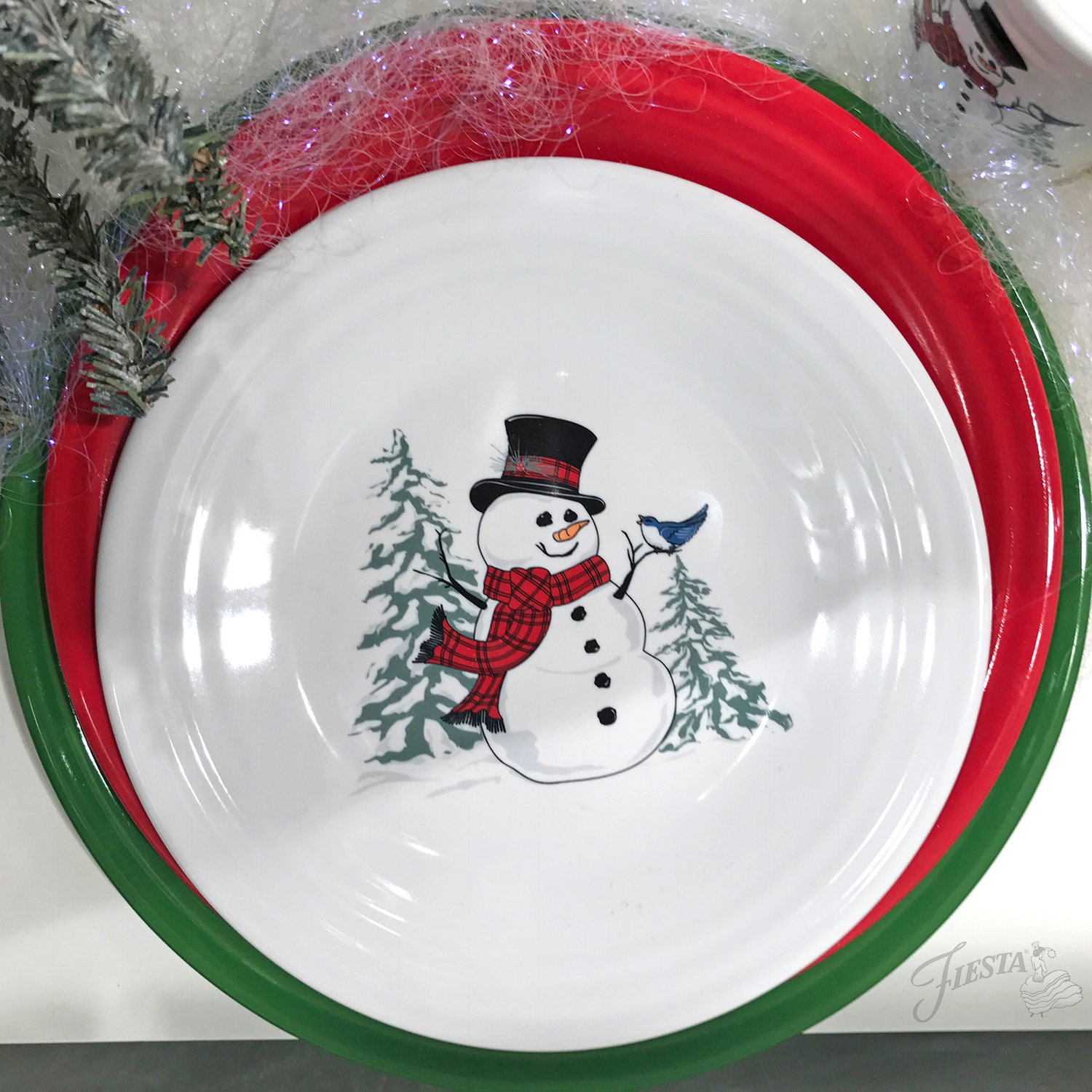 New for Christmas Jolly Fiesta® u0027Snowmenu0027 will be decorating Luncheon Plates and Tapered Mugs this Christmas! & Fiesta Dinnerware | Fiesta Dinnerware Always Festive | Fiestaware ...
