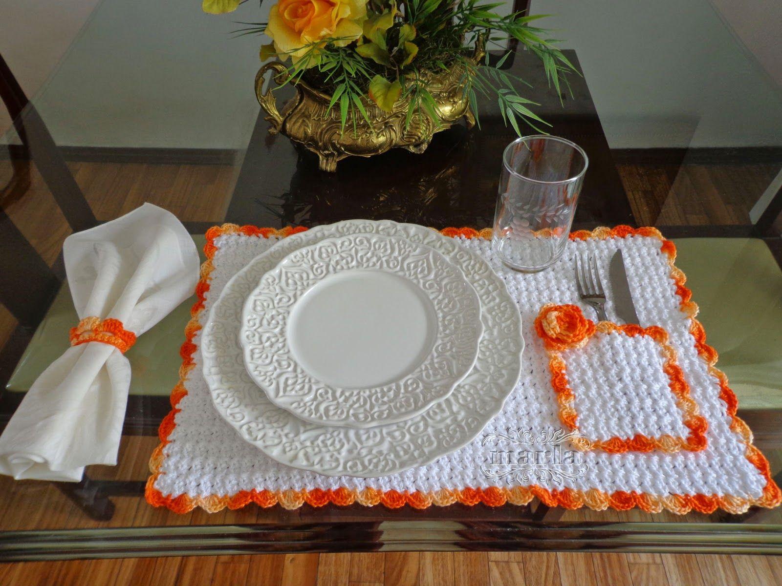 Jogo americano croche diferente pesquisa google crochet and more crochet placemats - Decoration au crochet ...