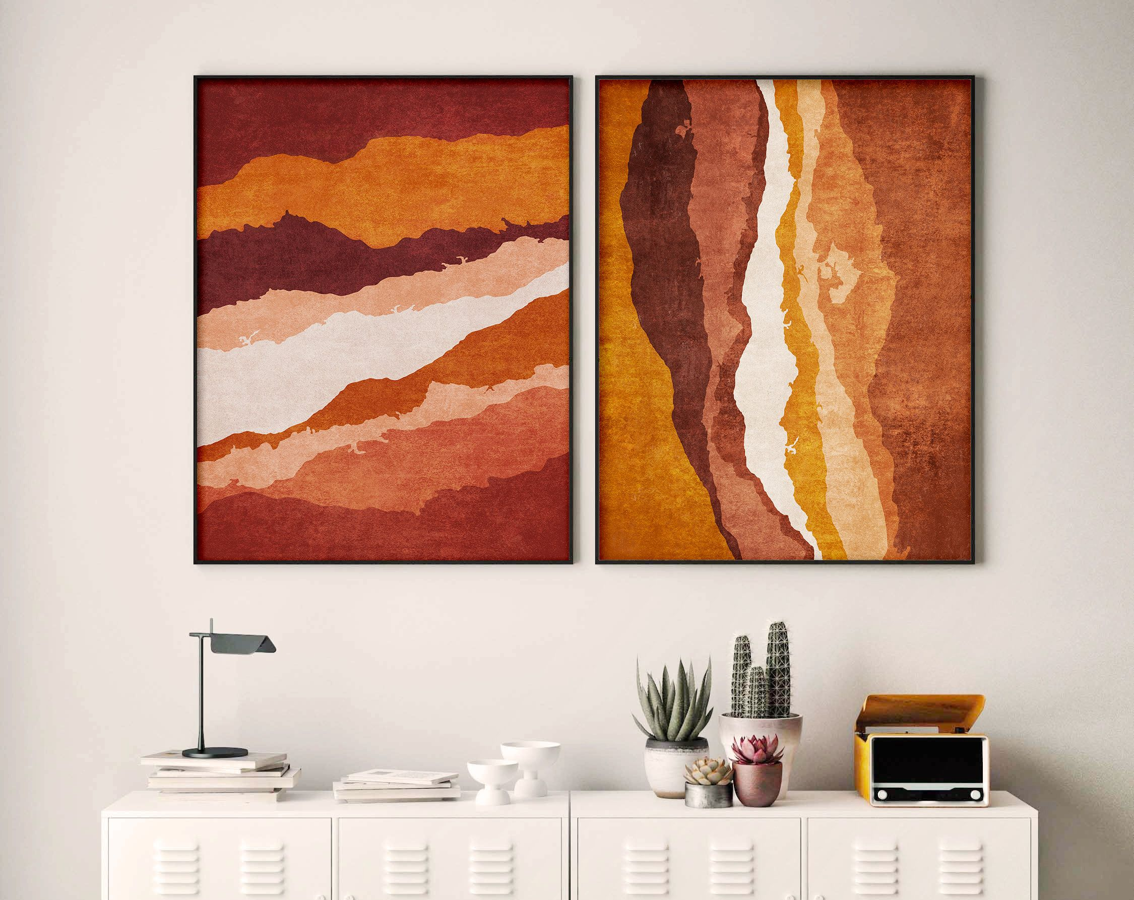 Abstract Set Of 2 Posters Organic Terracotta Printable Wall Etsy In 2021 Neutral Wall Art Minimalist Wall Art Printable Wall Art