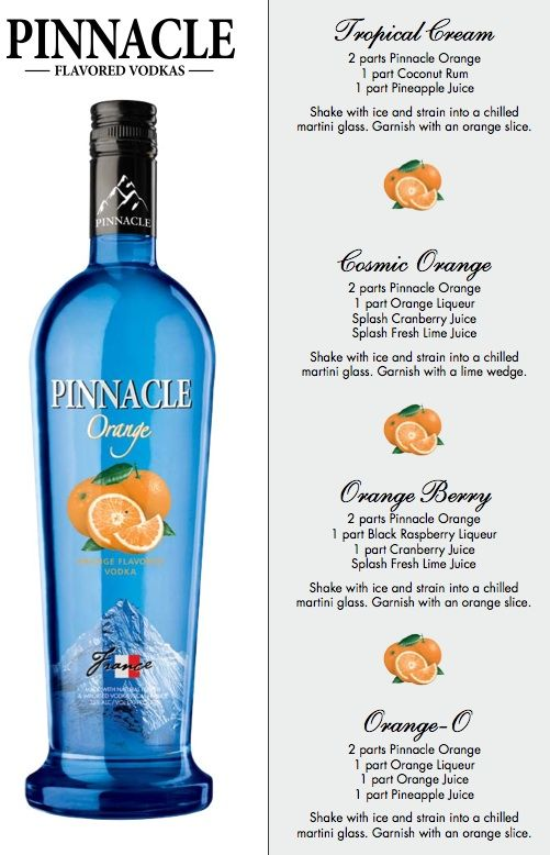 Pinnacle orange alcohol pinterest orange vodka beverage and a premium vodka at an affordable price pinnacle vodka boasts more than 40 flavors perfect for making delicious vodka drinks sisterspd